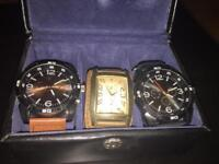 Watches and Leather case.