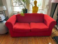 ***MUST GO*** TWO RED SOFA IN GOOD CONDITION