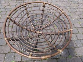 Rattan retro round wicker moon chair - frame only
