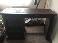 Dark stained pine dressing table
