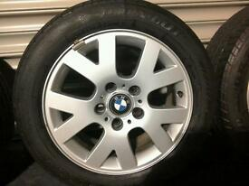 "BMW 16"" alloy wheels rims complete with tyres"