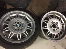 Bmw e36 m3 alloy wheels x2 sunflowers/ pair