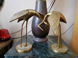 stork ornaments brass