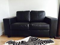 Brand New Sleek Black IKEA 2 Seater Sofa