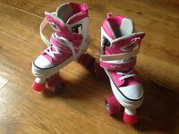 "Adjustable Quad Skates (Pink) Size UK 3-6 ""SFR Miami"""