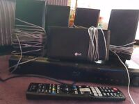 Lg Blueray surround sound system and sub woofer