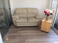 Two seats leather sofa