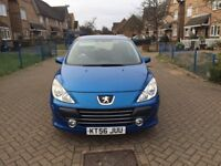 2007 PEUGEOT 307 1.6L WITH 1 YEARS MOT LOOKS & DRIVES GREAT