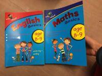 English/Math practice book 8-9 years