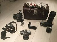 Olympus OM1 Camera and Accessories