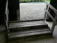 Patio Garden wooden steps