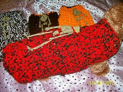 Halloween BLOOD Posable SKELETON Sweater Medium](Posable Skeleton Halloween)