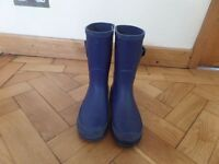 Wellies for size 2 navy blue
