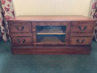Cherry wood TV, DVD and Video cabinet with built-in storage