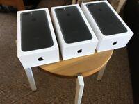 3 unused apple iPhone 7 box's including power supplies, headphones, lightening-usb cables/converters