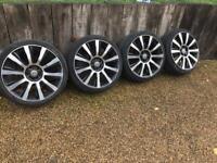 "20"" 5x120 Range Rover Vw Transporter Diamond Cut Alloys With Tyres T5 T6 Alloys"
