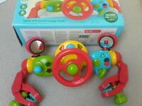 Buggy steering wheel/driver toy
