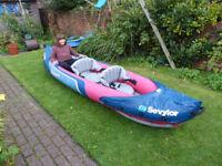 Sevylor Tahiti Plus 3 person inflatable canoe kayak