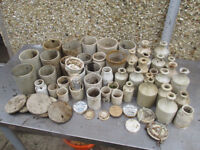 Lot of White/Grey Pots