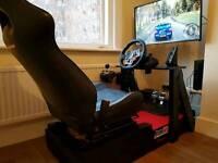 LOGITECH G29 + CUSTOM MADE SEAT/CHAIR SIMULATOR. SUBARU SEAT