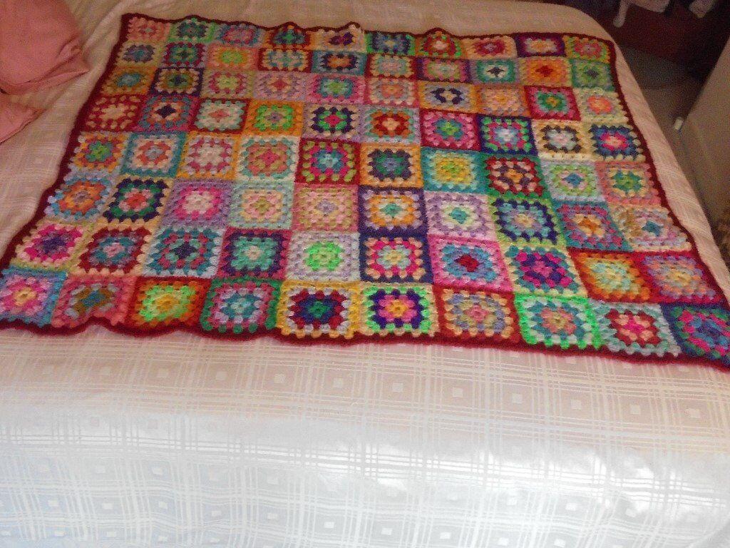 Multicolour Crochet Blanket