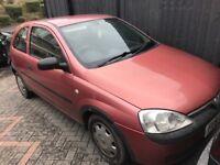 Vauxhall corsa 1.0 petrol 51-plate! No mot or tax! Runs drives good but TIMING CHAIN NOISY!! £150!!