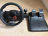 Logitech Driving Force steering wheel and Gran Turismo 5 for the PS3
