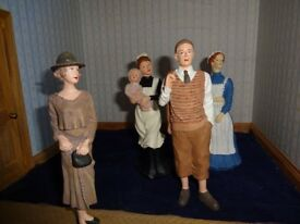 Dolls house figures - 1/12 scale. Man,woman,nurse and maid. Resin, well painted,