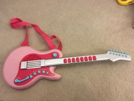 Early learning centre pink toy electric guitar