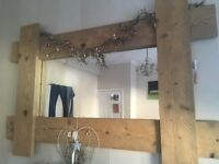 Beautiful hand made solid wood mirror
