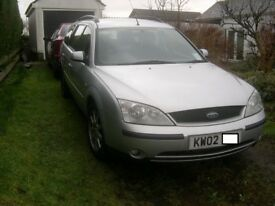 Mondeo estate 2.0 TDCI 130bhp silver breaking for spares