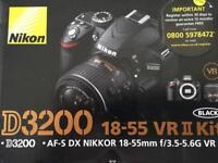 Nikon D3200 18-55 VR II Kit (+ Accessories) £370 ONO
