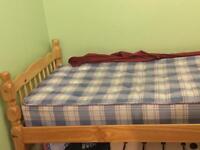 Hard wood bed