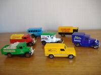 7 VINTAGE CORGI DIECAST DELIVERY VEHICLES / CORGI TOY CARS / COMMERCIAL VEHICLES -NEW