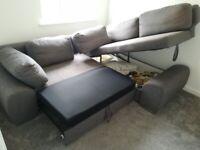 Corner Sofa Bed Grey ( Large Size )