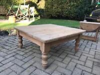 Charming Waxed Old English Pine Coffee Table