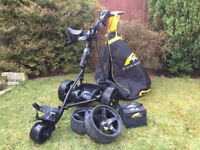 Black PowaKaddy Sport Electric Golf Trolley