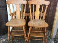 Chairs solid wood