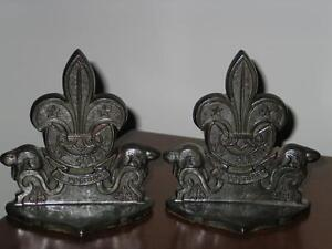 1940 BOY SCOUT BOOK ENDS .&  Leader statue Perfect gift Peterborough Peterborough Area image 2