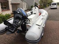 Waveline 330XS rib complete with 15hp Tohatsu outboard and trailer.