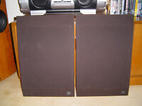 JBL L40 SPEAKER GRILLS WITH BADGES, GREAT CONDITION