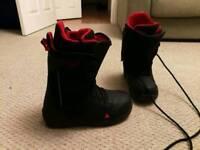 Burton Rampant black/red uk size 10 snowboard boots