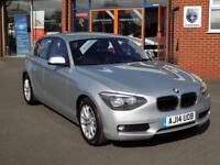 BMW 1 SERIES 1.6 116D EFFICIENTDYNAMICS BUSINESS 5dr **FULL LEATHER & SAT NAV ** (silver) 2014