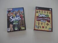 Sims 2 and Sims HappyHoliday Stuff Both in VGC