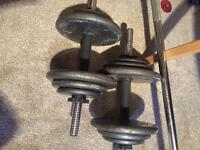 35kg iron dumbbells, weights