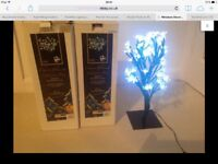 Xmas Trees. Table top (lamp size). Electronic. Boxed. Fab condition.