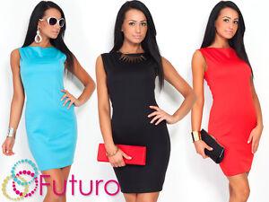 NEW-Womens-Classic-Elegant-Shift-Dress-Pencil-Tunic-Style-Size-8-18-FA15