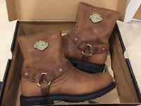 Brand new in box, Harley Davidson Men's leather boots UK9
