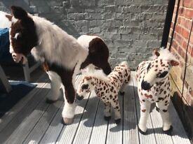 Three toy horses