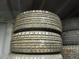 195/60R15 2 ONLY USED YOKOHAMA WINTER TIRES